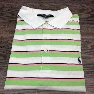 Polo Ralph Lauren White Stripe Polo Shirt XXL